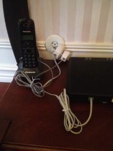 Router mellanpropp telefon